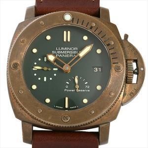 48回払いまで無金利 パネライ ルミノール サブマーシブル 1950 3DAYS ブロンゾ PAM00507 P番 中古 メンズ 腕時計|ginzarasin