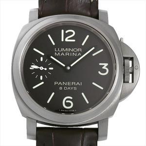 48回払いまで無金利 パネライ ルミノールマリーナ 8デイズ チタニオ PAM00564 U番 中古 メンズ 腕時計|ginzarasin