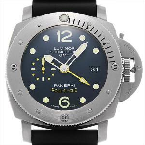 48回払いまで無金利 パネライ ルミノール サブマーシブル1950 3DAYS GMT チタニオ スペシャルエディション 500本限定 PAM00719 S番 中古 メンズ 腕時計|ginzarasin