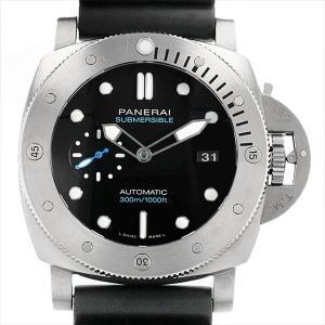 48回払いまで無金利 パネライ ルミノール サブマーシブル 3デイズ オートマティック チタニオ PAM01305 U番 中古 メンズ 腕時計|ginzarasin