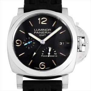 48回払いまで無金利 パネライ ルミノール 1950 3デイズ GMT パワーリザーブ オートマティック アッチャイオ PAM01321 T番 中古 メンズ 腕時計|ginzarasin