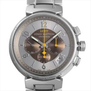 38b7075f4e3d 48回払いまで無金利 ルイヴィトン タンブール クロノグラフ エルプリメロ Q1142 中古 メンズ 腕時計