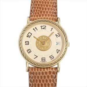 最大5万円オフクーポン配布 エルメス セリエ 中古 レディース 腕時計 48回払いまで無金利|ginzarasin