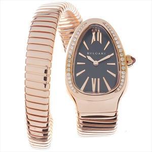 60回払いまで無金利 ブルガリ セルペンティ トゥボカス ベゼルダイヤ SPP35BGDG.1T シングルスパイラル 中古 レディース 腕時計|ginzarasin