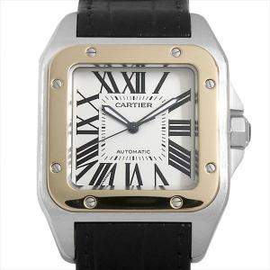 48回払いまで無金利 カルティエ サントス100 LM W20072X7 中古 メンズ 腕時計|ginzarasin