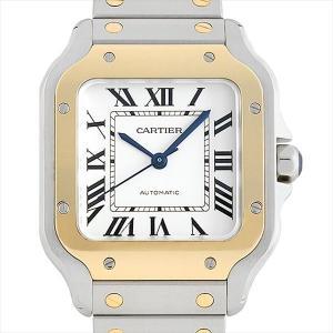 48回払いまで無金利 カルティエ サントス ドゥ カルティエ MM W2SA0007 中古 ボーイズ(ユニセックス) 腕時計|ginzarasin