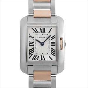 48回払いまで無金利 カルティエ タンクアングレーズ SM W5310019 中古 レディース 腕時計|ginzarasin