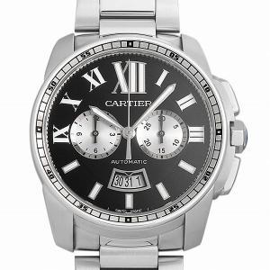 48回払いまで無金利 カルティエ カリブル ドゥ カルティエ クロノグラフ W7100061 中古 メンズ 腕時計|ginzarasin