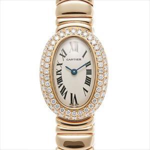 78319d750f 48回払いまで無金利 カルティエ ミニベニュワール ベゼル2重ダイヤ WB5094W1 中古 レディース 腕時計