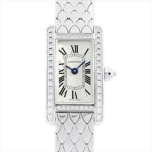 48回払いまで無金利 カルティエ タンクアメリカン ミニ WB710013 中古 レディース 腕時計|ginzarasin