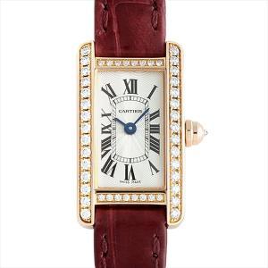 SALE 48回払いまで無金利 カルティエ ミニタンクアメリカン WB710014 中古 レディース 腕時計|ginzarasin