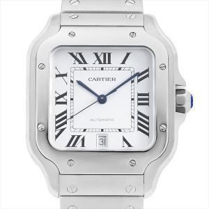 48回払いまで無金利 カルティエ サントス ドゥ カルティエ LM WSSA0009 中古 メンズ 腕時計|ginzarasin