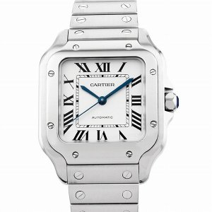 48回払いまで無金利 カルティエ サントス ドゥ カルティエ MM WSSA0010 中古 メンズ 腕時計|ginzarasin