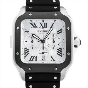 48回払いまで無金利 カルティエ サントス ドゥ カルティエ クロノグラフ XL WSSA0017 中古 メンズ 腕時計|ginzarasin