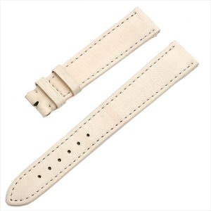 48回払いまで無金利 カミーユフォルネ 尾錠用革ベルト ロリカ(合成皮革) アイボリー 16mm-14mm 未使用 腕時計 ストラップ|ginzarasin