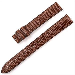 48回払いまで無金利 カミーユフォルネ 尾錠用革ベルト リザード 茶/ブラウン 13mm-12mm 未使用 腕時計 ストラップ|ginzarasin