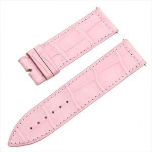 48回払いまで無金利 フランクミュラー ロングアイランド用純正革ベルト クロコダイル ピンク 22mm-22mm 未使用 腕時計 ストラップ|ginzarasin