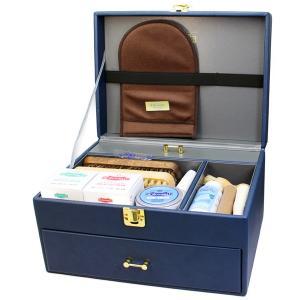 【送料無料】靴磨きセット M.MOWBRAY グランブルーセット+ モゥブレィ エム モウブレイ シューケアセット 革靴 手入れ ボックス BOX|ginzatiger