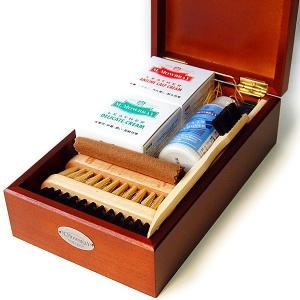 靴磨きセット M.MOWBRAY セントジョージセット (革靴 手入れ ボックス 木箱) モゥブレィ エム モウブレイ シューケアセット|ginzatiger