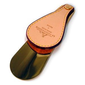 靴べら 携帯 コルドヌリアングレーズ シューホーン ショート(革) ginzatiger