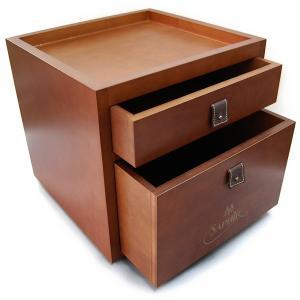 【木箱のみの単品販売】サフィールノワール ドローワーボックス Saphir Noir BOX (シューケア用品  収納ボックス。靴磨きセットをご自身で)|ginzatiger