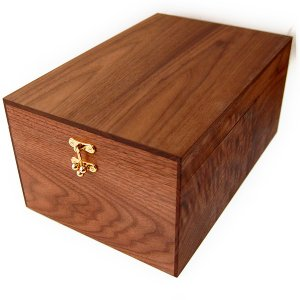【木箱のみの単品販売】シューケア ボックス ウォールナット製 BOX (シューケア用品、靴磨きセット、シューケアセットの収納ボックス)|ginzatiger