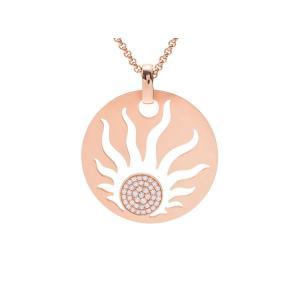 ダイヤも選りすぐられたものを使用し、多くのセレブに愛されているショパール。こちらは太陽モチーフをデザ...
