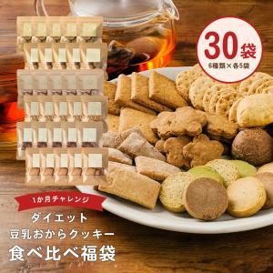 6種×各5袋 食べ比べ  おからクッキー 約1か月分 30袋  送料無料 豆乳おから クッキー お試し チャック付き 宅配便A TSG TN|ginzou