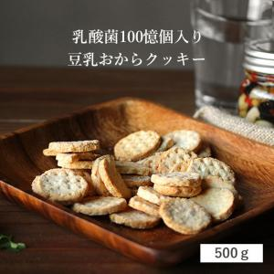 500g 乳酸菌 豆乳おからクッキー ハードタイプ 1袋 健康おやつ メール便A TSG TN|ginzou