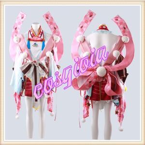白猫プロジェクト ツキミ うさぎ法月 見月兎 風 コスプレ衣...