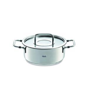 Fissler (フィスラー) 両手鍋 シルバー 20cm ボン キャセロール IH対応 086-122-20-000の商品画像|ナビ