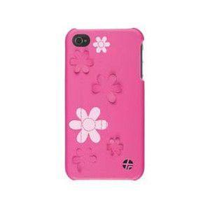 【あすつく】【在庫処分】Trexta iPhone 4・4S用本革張りハードケース ファム フラワー 15882 gion