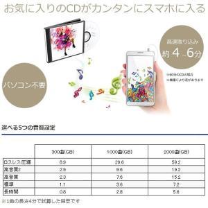 【あすつく】在庫あり CDレコ CDRI-LU24IXA アイ・オー・データ スマートフォン用CDレコーダー Android iPhone両対応|gion|02