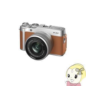 [予約]FUJIFILM ミラーレス 一眼カメラ X-A7 レンズキット [キャメル]