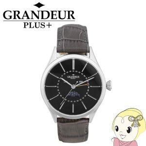 GRP011W2 GRANDEUR PLUS+ グランドールプラス 腕時計 ムーンフェイズ 牛本革バ...
