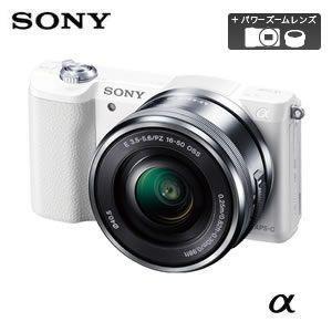 ソニー ミラーレス一眼レフカメラ α5100 ILCE-5100L パワーズームレンズキット [ホワ...