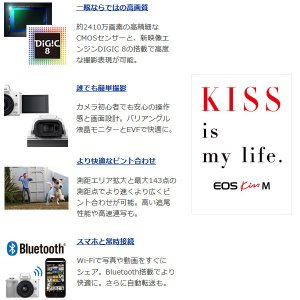 Canon キヤノン  ミラーレスカメラ EOS Kiss M ダブルズームキット [ホワイト]|gion|03