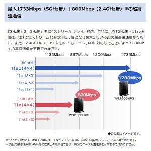 【あすつく】在庫あり 無線LANルーター Wi-Fiルーター NEC Aterm WG2600HP3 PA-WG2600HP3 11ac対応 1733+800Mbps|gion|02