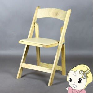 ■【メーカー直送】 【4脚セット】サンニード 木製Fチェアー 折畳式 ナチュラル AF002NA|gioncard