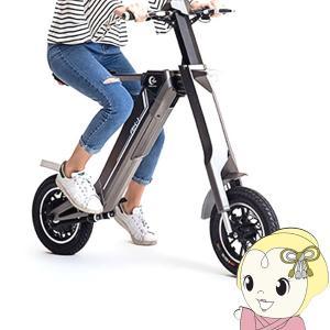 ■[予約 6月下旬以降]【メーカー直送】折りたたみ電動スクーター 電動バイク グレー|gioncard
