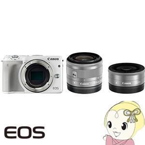 Canon ミラーレス一眼レフカメラ EOS M3 ダブルレ...