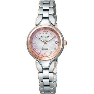 ■ES8044-61W シチズン 腕時計 エクシード レディース エコドライブ電波時計|gioncard