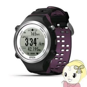 【あすつく】【在庫僅少】SF-810V エプソン WristableGPS 脈拍計測機能搭載腕時計 ブラック/バイオレット|gioncard