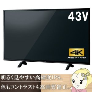 TH-43FX600 パナソニック 43V型 地上・BS・110度CSチューナー内蔵 4K対応 液晶テレビ VIERA (USB HDD録画対応)|gioncard
