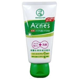 メンソレータムアクネス 薬用メイクも落とせる洗顔 130g|gionsakura