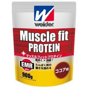 ウイダー マッスルフィットプロテイン ココア味 900g|gionsakura
