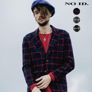 NO ID. ノーアイディ メンズ チェック ノッチドラペル 2釦 テーラードジャケット|gios-shop