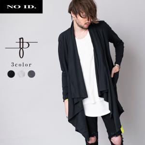 NO ID. BLACK ノーアイディー ブラック コットン天竺 カットオフ ドレープ ショール ガウン メンズ|gios-shop
