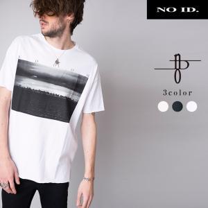 NO ID. BLACK ノーアイディー ブラック C天竺 SODOM プリント ビッグTシャツ メンズ 半袖 半袖Tシャツ Tシャツ|gios-shop