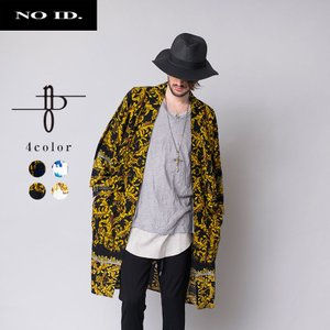 NO ID. BLACK ノーアイディー ブラック 総柄 プリント ガウン メンズ|gios-shop